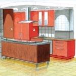 Kitchen Concept Design Sketch